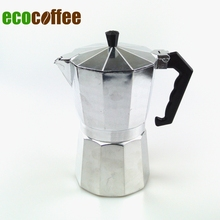 Free Shipping High Quality Espresso Aluminum moka pot  Espresso Coffee Makers  3 Cups 6Cups 9 Cups 12Cups