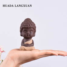 Home Decoration Accessories miniature Buddha Statue figurine feng shui  Decoration Ceramic Craft Indian Monks 4 Colors