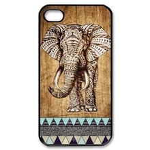 Indian elephant with wooden style PC OEM individual cell phone bags case cover for iphone 4S 5S 5C SE 6S 7 PLUS Samsung IPOD 4 5