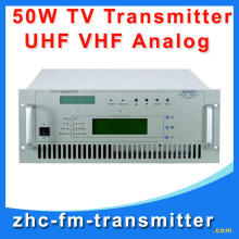 TV-50W VHF UHF wireless analog TV Signal Broadcast transmitter TV Station Broadcasting Equipment  transmitter China Guangzhou