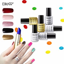 Elite99 Soak Off UV Gel Lacquer 7ml Fresh Colorful Nail Gel Polish Need Lamp Primer Long Lasting Led Gel For Nail Extensions(China)