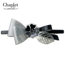Chaplet 2016 New High Quality France Fashion Woman Hair Accessories Flower Hair Clip Rhinestone Hair Barette Bunny Free Shipping