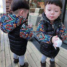 2017 new winter coat boys childrens children baby long paragraph padded coat thick cotton padded jacket