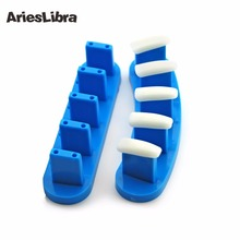 AriesLibra 2pcs/lot Plastic Tip Stand for Practice Use High Quaity False Tips Display Training Tool Nail Art Display Nail Tool(China)