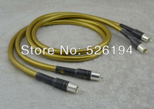 Free shipping one pair Cardas HEXLINK GOLDEN RCA interconnect cable with Silver plated RCA plug connector