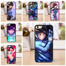 D.va Overwatch original cell phone case cover for iphone 4 4s 5 5s se 5c 6 6 plus 6s plus 7 7 plus &tt27