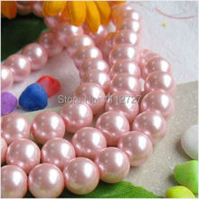 "Beautiful 8mm Pink South Ocean Shell Pearls Loose Beads Accessory Parts Jewelry Natural Stone 15 ""AAA BV194 Wholesale Price(China)"