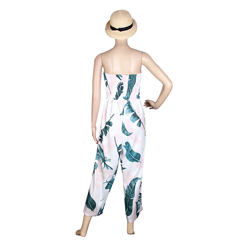 Causal Women Jumpsuits Off Shoulder Summer Bodysuit Combinaison Femme Beach Sexy Rompers Jumpsuits Pants WS390E 16