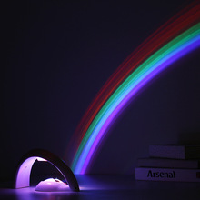 Novelty LED Colorful Rainbow Night Light Romantic Sky Rainbow Projector Lamp luminaria Home Room Decoration birthday Gifts(China)