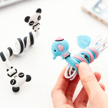 Cartoon Cord Winder Reversal Korea fashion creative Lovely Classic adorable long strip winding thread tool device silicone(China)