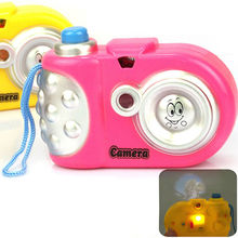 1pc New Baby Kids Animal Digital Camera LED Light Pattern Educational Study Funny Games Toys for Children Color Random(China)