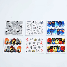 48pcs Halloween Nail Stickers Water Transfer Stickers Nail Art Decals Beautiful Diy Decor Temporary Tattoos Nail Make Up Tools