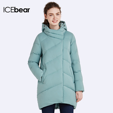 ICEbear 2016 Polyester Winter Snow Women Jackets Sleeve Padded long Coat Women's Parka And Cotton Coats Anorak 16G6220