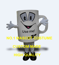 New Anime Cosply Costumes Mug Mascot Costume Adult Cartoon Character Advertising Mug Theme Carnival Mascotte Fancy Dress 1882(China)