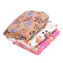 Warm Pet Bed Mat Cover Small Medium Large Towl Paw Handcrafted Print Cat Dog Fleece Soft Blanket Puppy Winter Pet Supplies