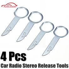 4 pcs Car Stereo Radio Removal Remove Tool 4 Keys For Audi For Mercedes-Benz for Ford For Volkswagen(China)