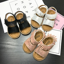 high quality fashion tassel  2017 summer genuine leather toddler baby girls boys sandals  baby moccasins hard sole baby shoes