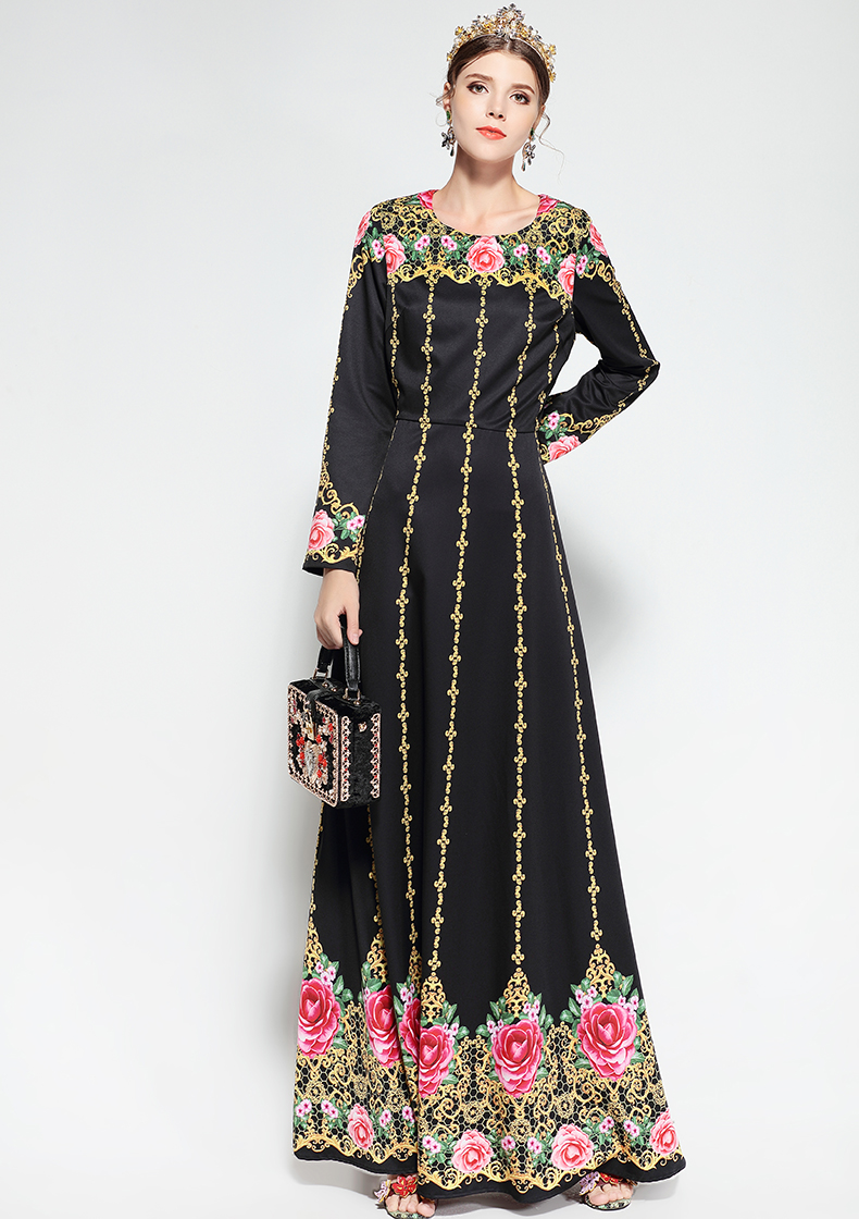 2018 Ld Linda Della 2018 Fashion Runway Maxi Dress Women\'S Long ...