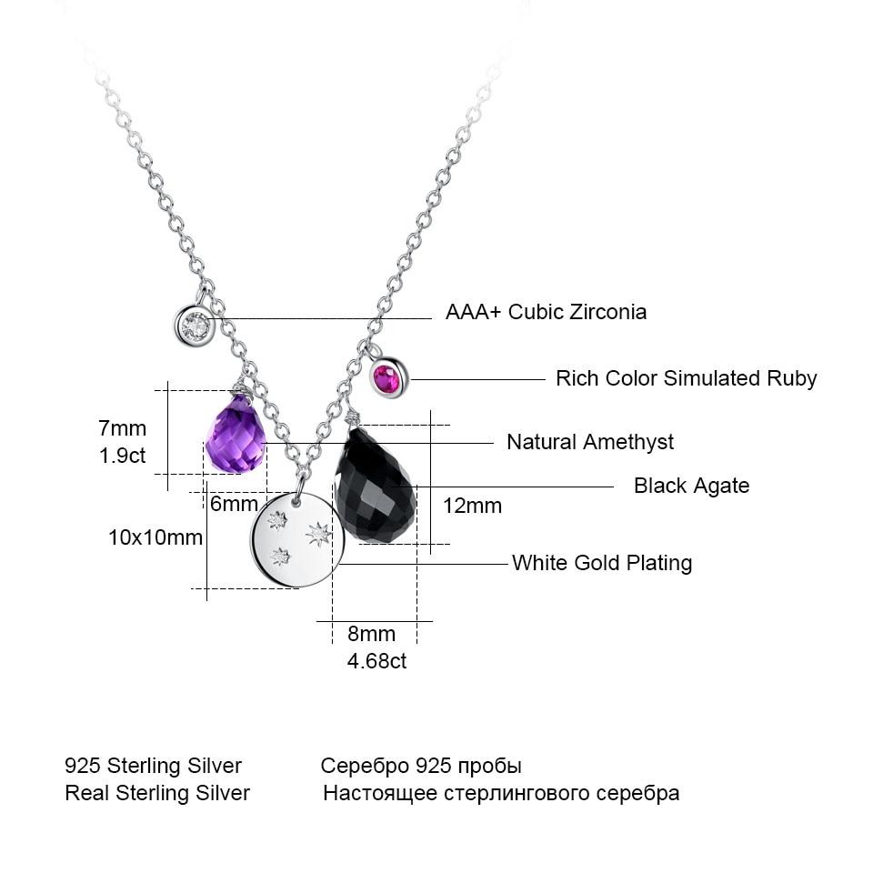 silver amethyst flower necklace for women (6)
