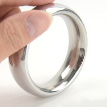 Buy D: 40/45/50mm metal cockring 304 stainless steel cock ring adult sex toys men dick heavy smooth male penis ball rings