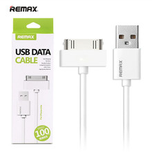 100% Genuine Original Remax 1M 3FT 30pin to USB Sync Data Charger Cable for iPhone 3GS 4 4S iPad 2 3 iPod nano with retail box