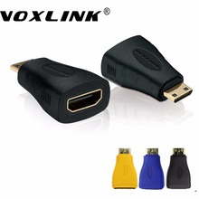 VOXLINK 1080P Mini HDMI to HDMI Converter Adapter Mini HDMI Male to Female Adapter For Camera DV PC HDTV