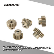 GoolRC M0.6 3.175mm 18T 19T 20T 21T 22T 0.6 Module Pinion Motor Gear for 1/8 1/10 RC Buggy Monster Truck Brushed Brushless Motor(China)