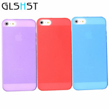 GLSHST Colorful Plastic Matte Capa For iphone 5 5s 5se 7 7 plus 6 6s 6 plus 4 4s Cover Case Clear Hard Bags Fashion Protector