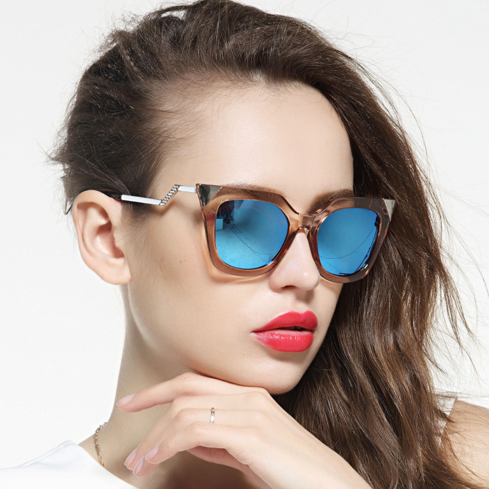 Iridia FF0060/S Women Sunglasses Designer Mirrored Metal Brand New Female Glasses Cat Eye Oculos De Sol Retro Vintage Coating<br><br>Aliexpress
