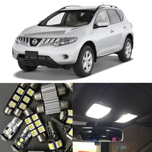 Buy 14pcs White Canbus LED Light Bulbs Interior Package Kit Nissan Murano 2009-2015 Car Map Dome Trunk License Plate light Lamp for $12.60 in AliExpress store