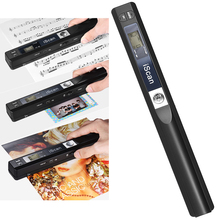 Portable Handheld Wand Wireless Document & Images Scanner A4 Size 900DPI JPG/PDF Formate LCD Display for Business Reciepts Books
