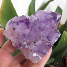 318g AAA+++ Natural Amethyst Quartz Crystal Mineral Specimens Quartz Crystal Stone Holiday Gifts Home Decoration(China)