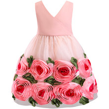 Kids Party Events 3D Flower Girls Wedding Dresses Tutu Dress For Little  Baby Girls Prom Gown 1738292f1662