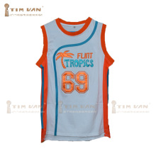 "TIM VAN STEENBERGEB Downtown 69 ""Funky Stuff"" Malone Flint Tropics Semi Pro Team Basketball Jersey-White"