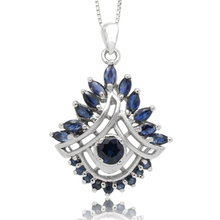 Collier Collares Qi Xuan_Dark Blue Stone Fashion Pendant Necklace_Real Necklace_Quality Guaranteed_Manufacturer Directly Sale(China)