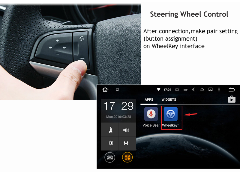 steering wheel control on android car dvd