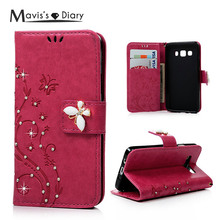 MAVISSDIARY Wallet Case for Samsung galaxy A3 (2015) Luxury Bling Crystal Diamond Leather Flip Cover for Samsung galaxy A3 A3000