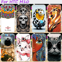Hard Plastic Cool Skull Cute Minions Flower Phone Cases For HTC 10 One M10 M10h 5.2 inch Phone Cover Phone Shell Accessories