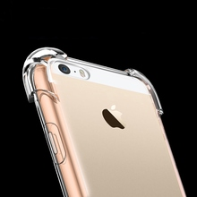 HOPELF Case for iPhone 5 5s SE Case Coque Anti Knock Clear TPU Silicone Cover for 5s iPhone Case 5 s SE Phone Bag(China)