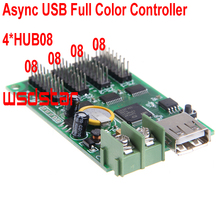 Cheap Async USB full color controller 384*64 192*128 4*HUB08 Design for small size LED display Mini RGB LED controller 2pcs/lot