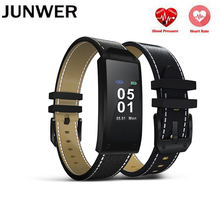 JUNWER Bluetooth Smart Bracelet Y2 Color LCD Smart Wristband Heart Rate Monitor Smart Band Pedometer Watch For Android Apple T30(China)