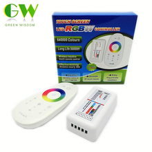 2.4G RGBW LED Controller 4Channels 24A DC12-24V Touch Screen Remote Control for RGBW LED Strip.