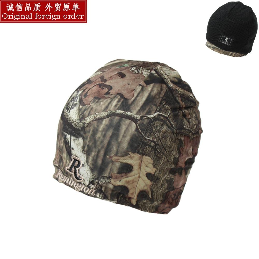 Autumn Winter Men Hunting Cap Man Beanie Warm Hat Double Faced Camouflage Print Cap Elastic Head Size 50-58CMОдежда и ак�е��уары<br><br><br>Aliexpress