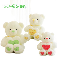 65cm Stuffed Plush Toy Holding LOVE Heart Big Plush Teddy Bear Soft Gift for Valentine Day Birthday Girls' Brinquedos(China)