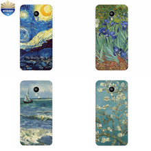 Phone Case For Meizu M1 M2 M3 Note Back Cover M2 Mini M3 Mini MX4 Pro MX5 Shell Pro 5 6 Soft TPU  Van Gogh Design Painted