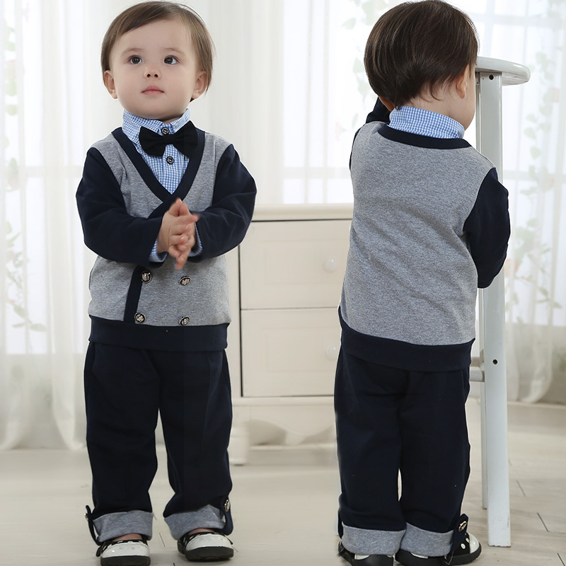 new born boys clothing set gentleman suit baby boy birthday dress for spring atummn full wedding sets with bow tie for a gift<br><br>Aliexpress