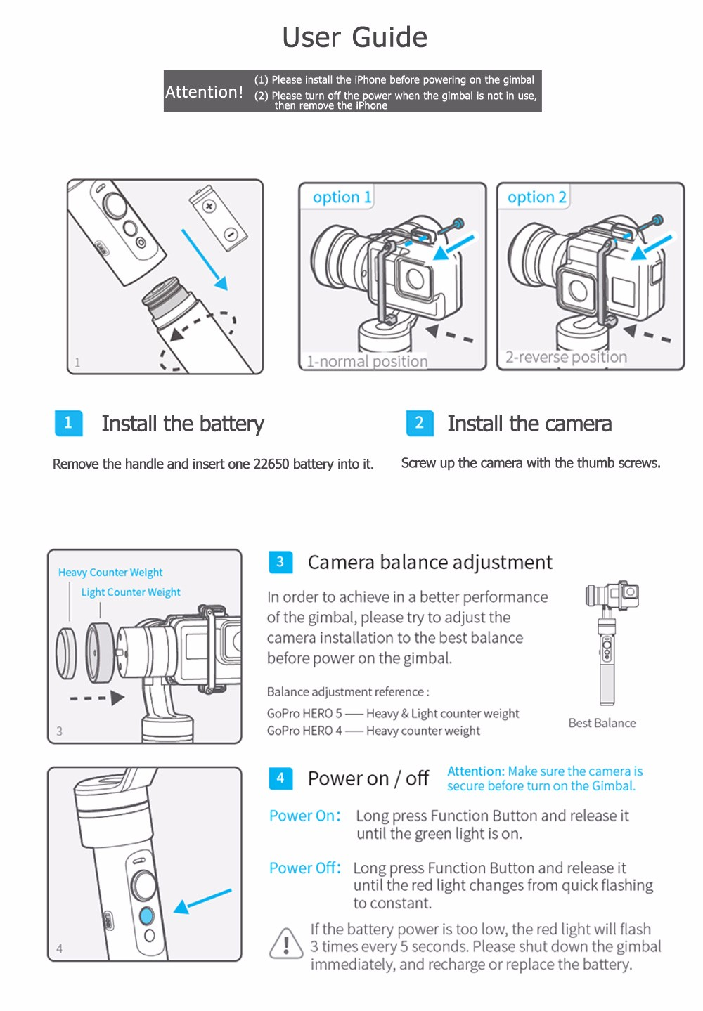 FeiyuTech Feiyu G5 Splash Proof waterproof 3-Axis Handheld Action Camera Gimbal For GoPro HERO 6 5 4 3 3+ Xiaomi yi 4k SJ AEE 18