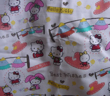 Fc270 Hello kitty Fabric Canvas Floral Cloth Yard linen cotton sale