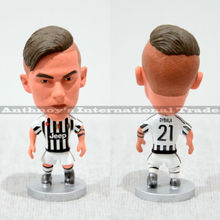 "1pec Soccer 21# DYBALA (JUV-2016) 2.5"" Action Doll Toy Figurine football player figure christmas"