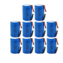 10PCS x Ni-Cd 4/5 SubC Sub C 1.2V 2200mAh Rechargeable Battery with Tab - Blue Color Free Shipping(China)
